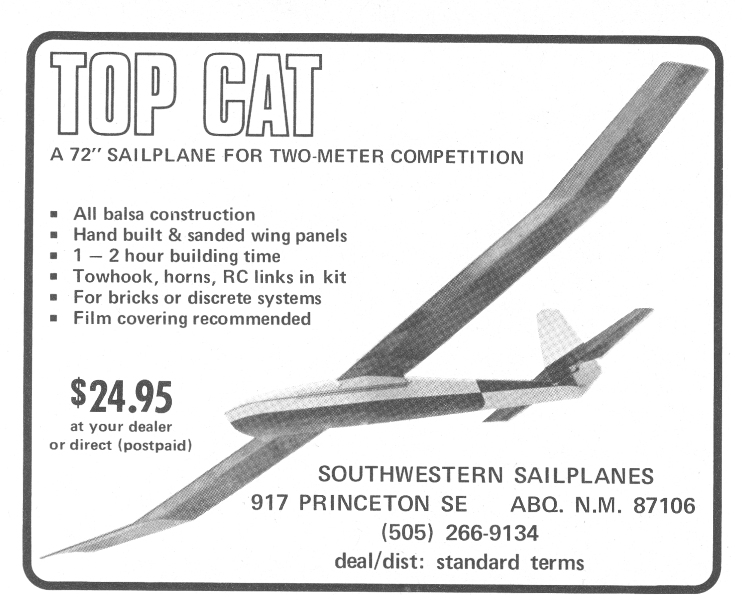 Southwest Sailplanes Top Cat